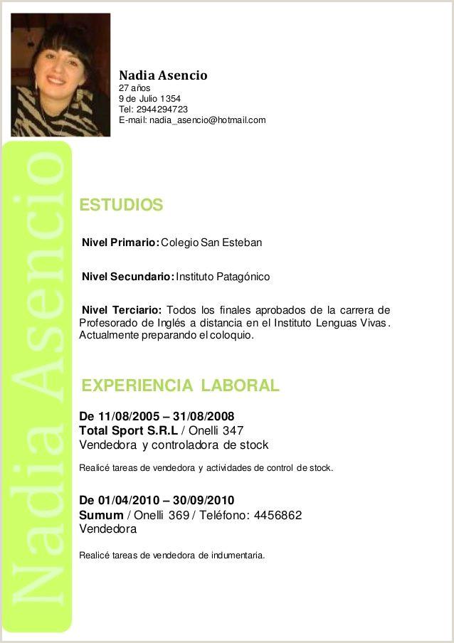 Plantillas Curriculum Vitae Para Rellenar En Ingles Curriculum Vitae Nivel 9