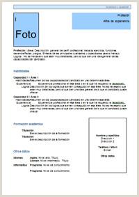 Plantillas Curriculum Vitae Para Rellenar Gratis Infojobs √ Plantilla Curriculum Vitae Funcional