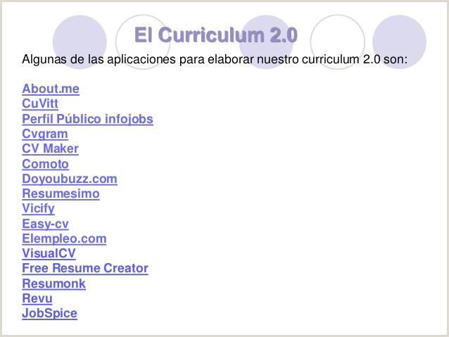 Plantillas Curriculum Vitae Para Rellenar Gratis Infojobs C³mo Hacer Un Curriculum 2 0 Por Susana Moreno Fernández