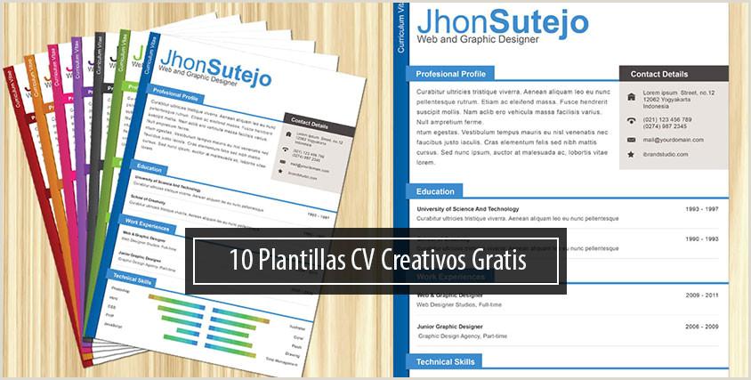 Plantillas De Curriculum Vitae Para Rellenar Las 10 Mejores Plantillas Gratis Para Curriculums Creativos