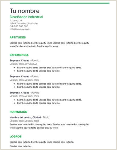 Plantillas De Curriculum Vitae Para Rellenar Y Descargar ▷ Curriculum Vitae Plantilla Word