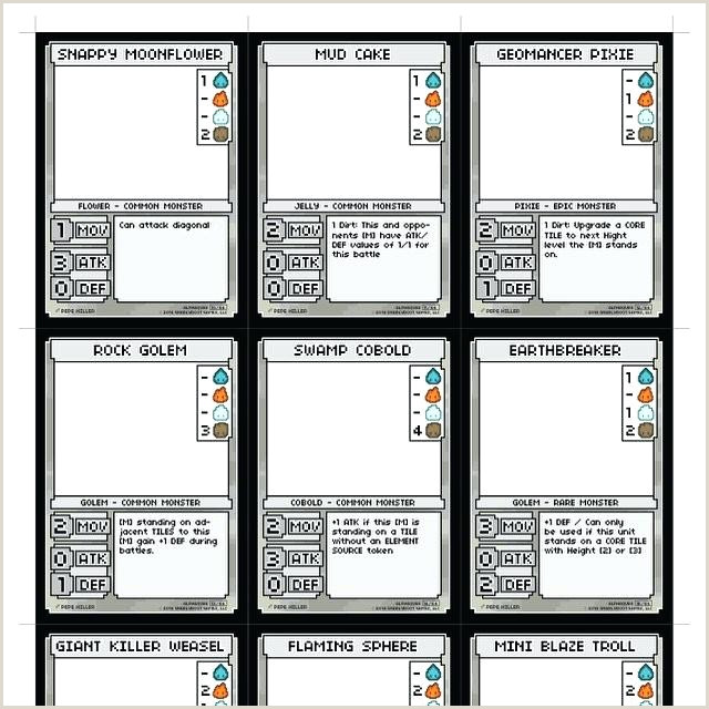 Card Template Trading Game Design shop Free