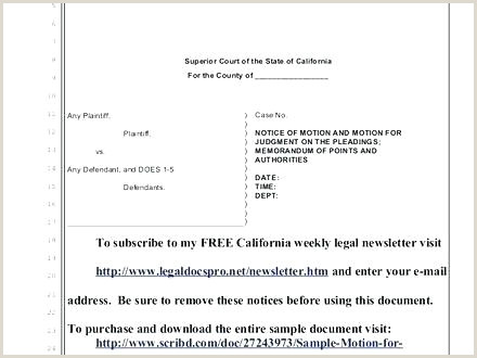 Pleading Paper Template Legal Lines fice Templates