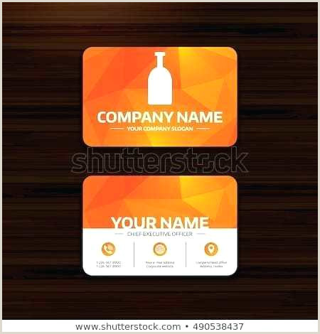 Business Visiting Card Template Alcohol Sign Stock Vector