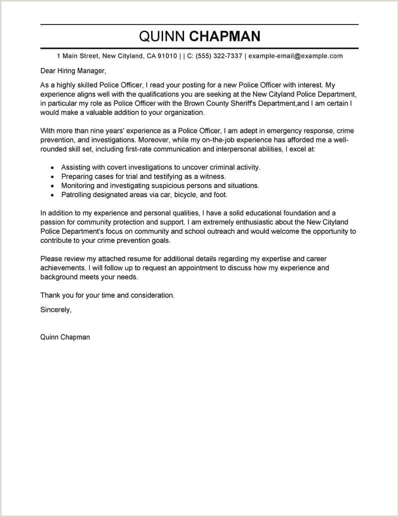 Police Chief Cover Letter 9 10 Job Reinstatement Letter Sample