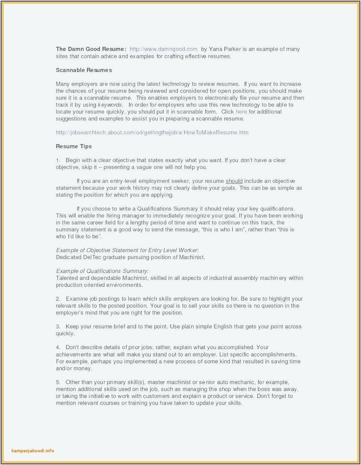 resume Resume Summary Statement