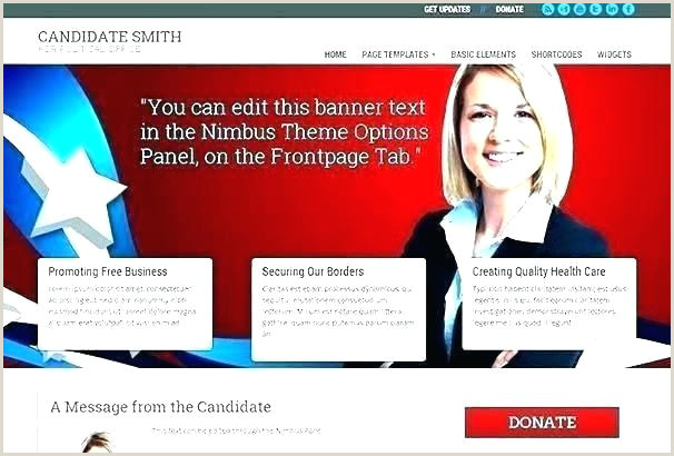 Campaign Political Template Website Templates Free Election