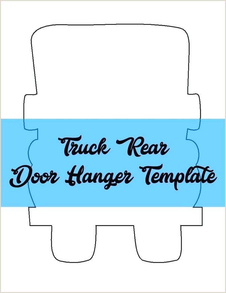 Hanger Template Truck Rear Door Pdf Fonts And Designs