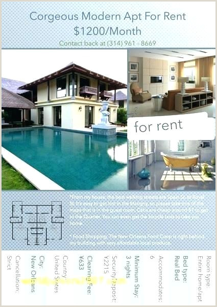 Apartment Flyer Template For Rent Sign Templates