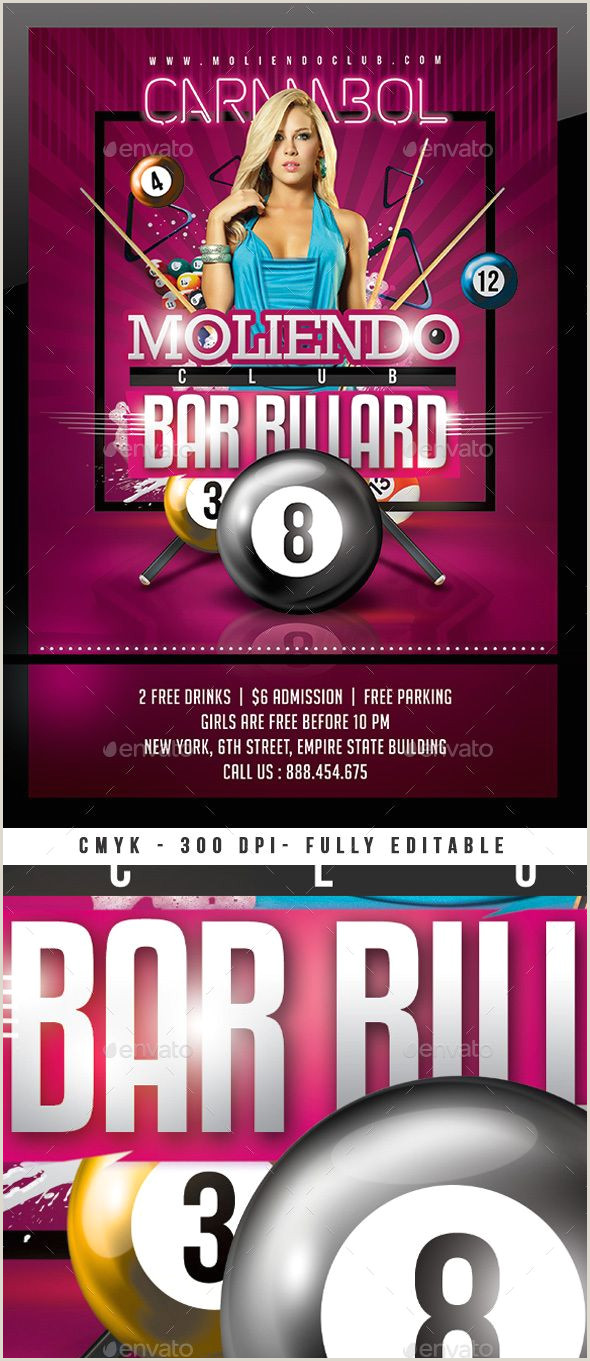 Bar Billiard Club Sports Events
