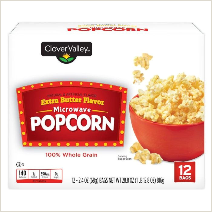 Clover Valley Extra Butter Microwave Popcorn 12pk