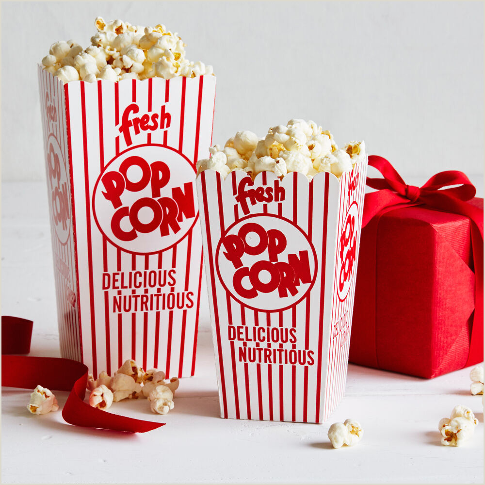 Popcorn Cupcake Wrappers Retro Paper Popcorn Boxes
