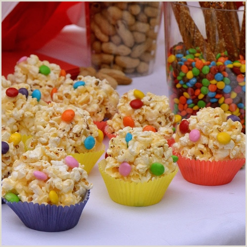 Popcorn Cupcake Wrappers Salty Sweet Birthday Popcorn Balls