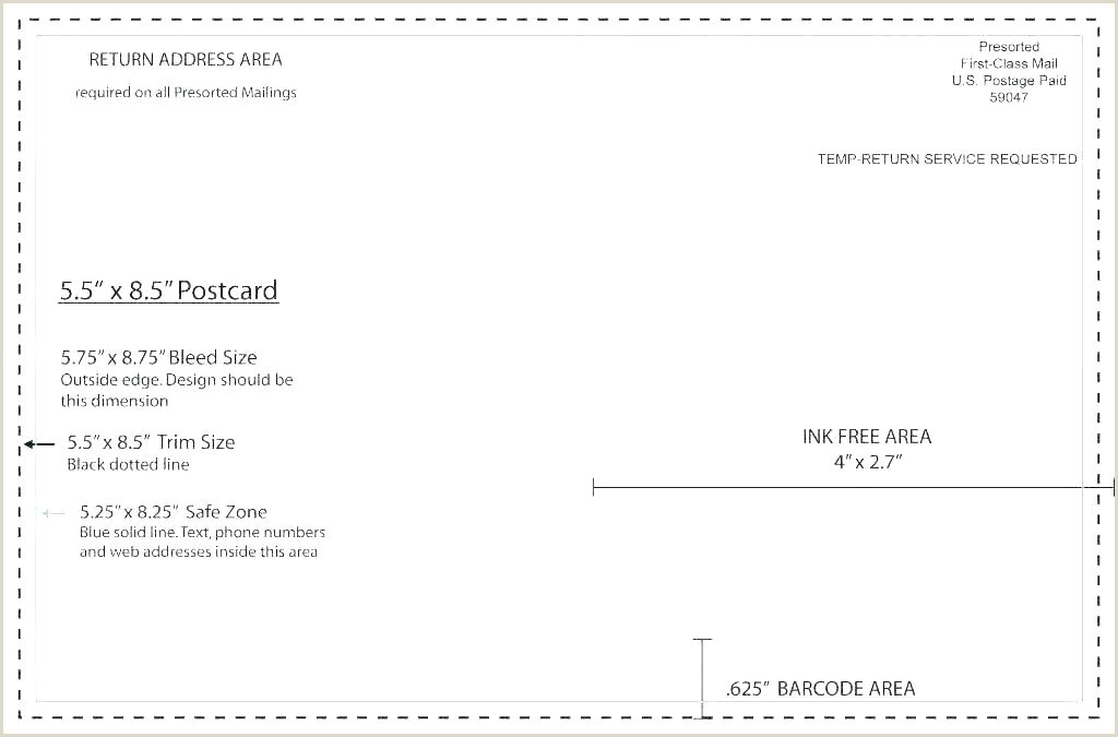 postcard size template word