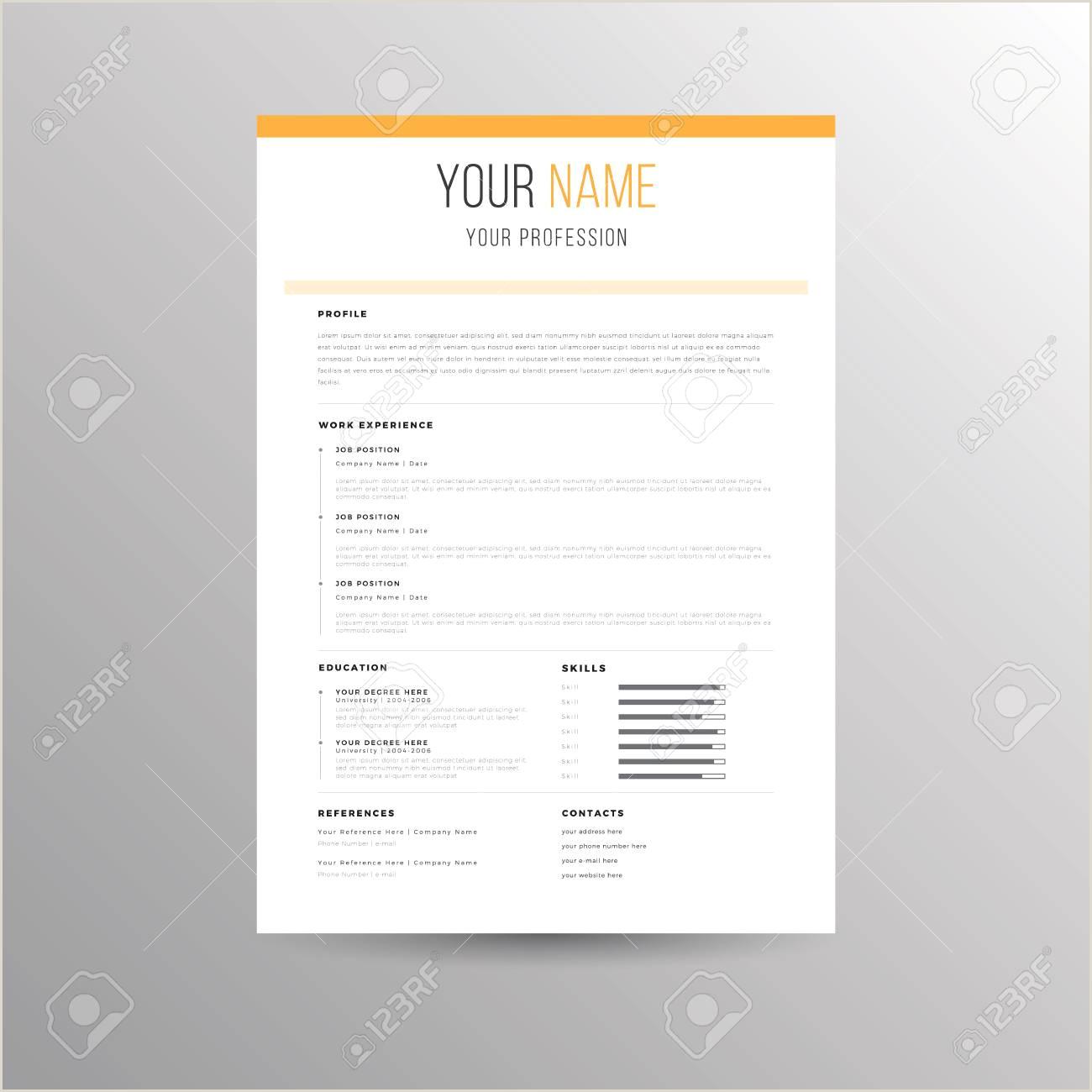 Mod¨le de CV Resume pour les demandes d emploi