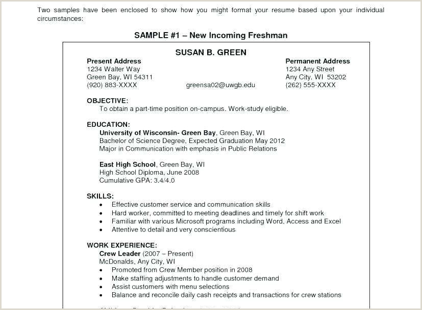 Campus Job Resume Sample Professional Job Placement Best