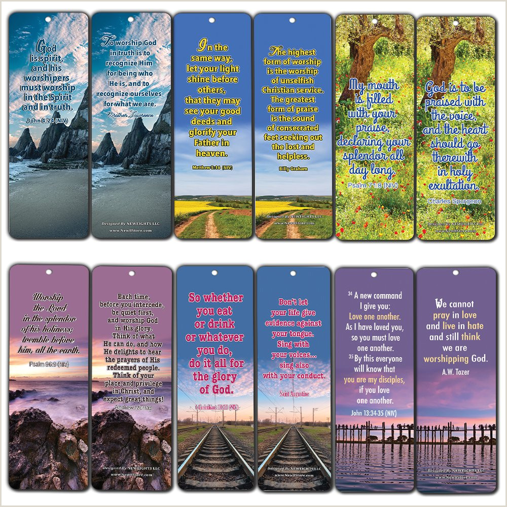 Inspirational Bible Versets signets 60 pack Encourageant