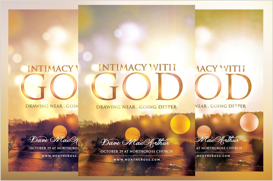Intimacy with God Church Flyer