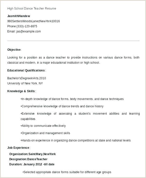 Pre K Teacher Resume Sample Dancer Resume Sample – Growthnotes