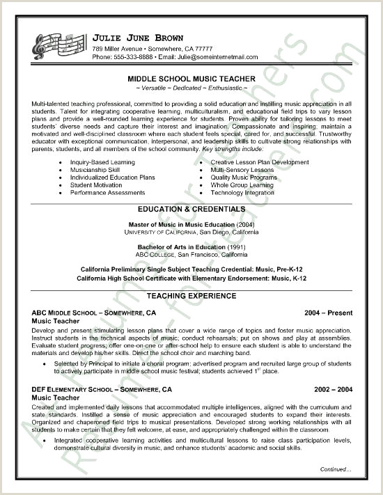 Inspirational Grade School Teacher Resume Resume Design