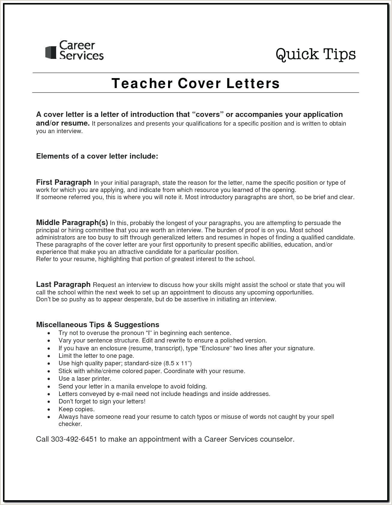 10 sample cover letter for preschool teacher