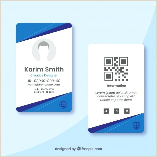 Id Card Template Free Vector Identity Download fice Design