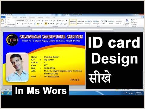 Press Pass Template Microsoft Word Student Id Card Design In Microsoft Word 2010