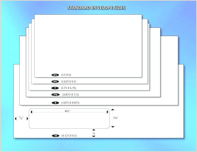 Card Word Envelope Sizes Microsoft 5—7 Size Envelopes