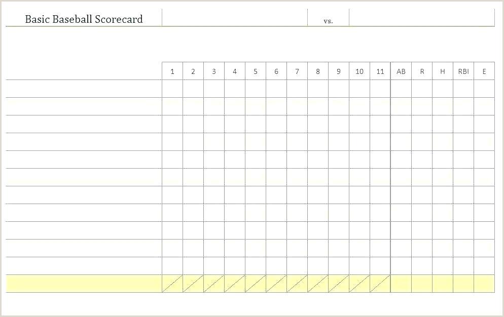 Printable Softball Scorecards Score Sheet Free Stat Sheets
