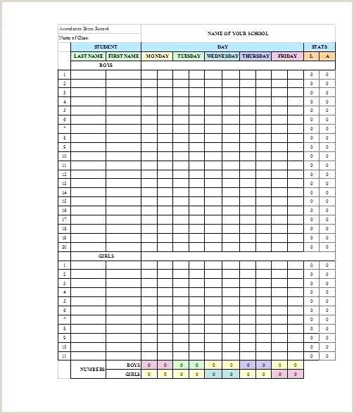 Printable Blank Football formation Sheets Football attendance Sheet Bsa Training form Template Bonus