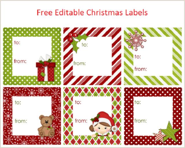 Free Editable Christmas Labels Free Latest