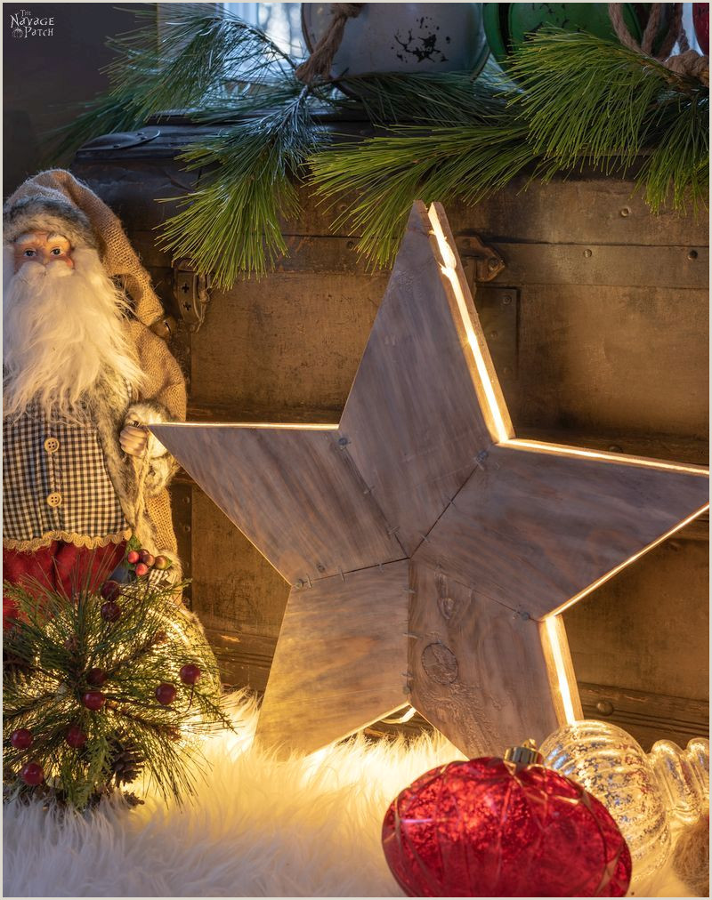 DIY Rustic Wood Star Lights with Free Star Template The