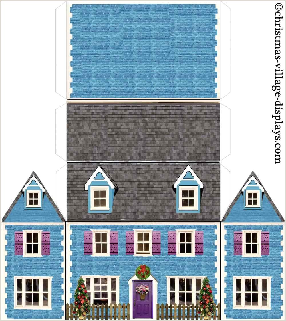 printable christmas house template olde town hall