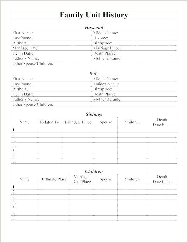 Printable Family Health History form Printable Phone Tree Template Wordpress Design Portfolio