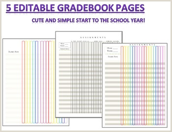 Editable Gradebook & Worksheets