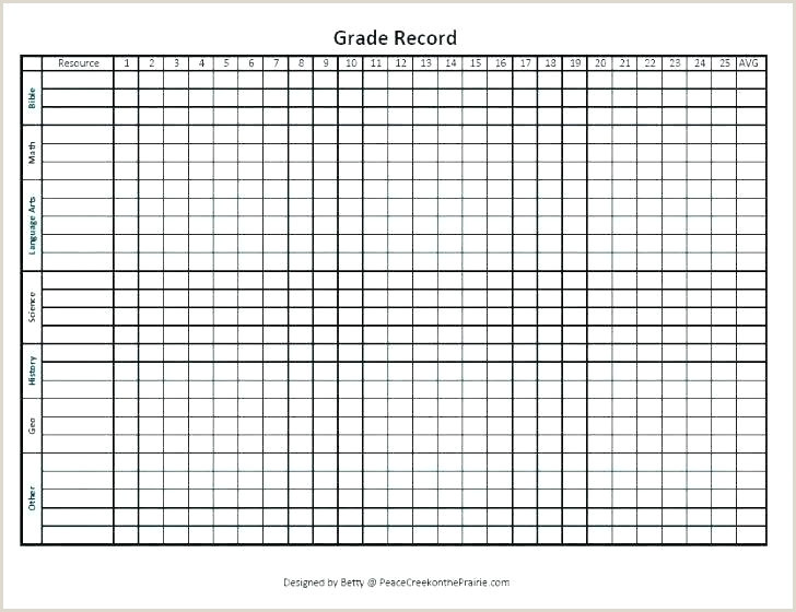Printable Gradebook Template Editable Teacher Grade Book Template