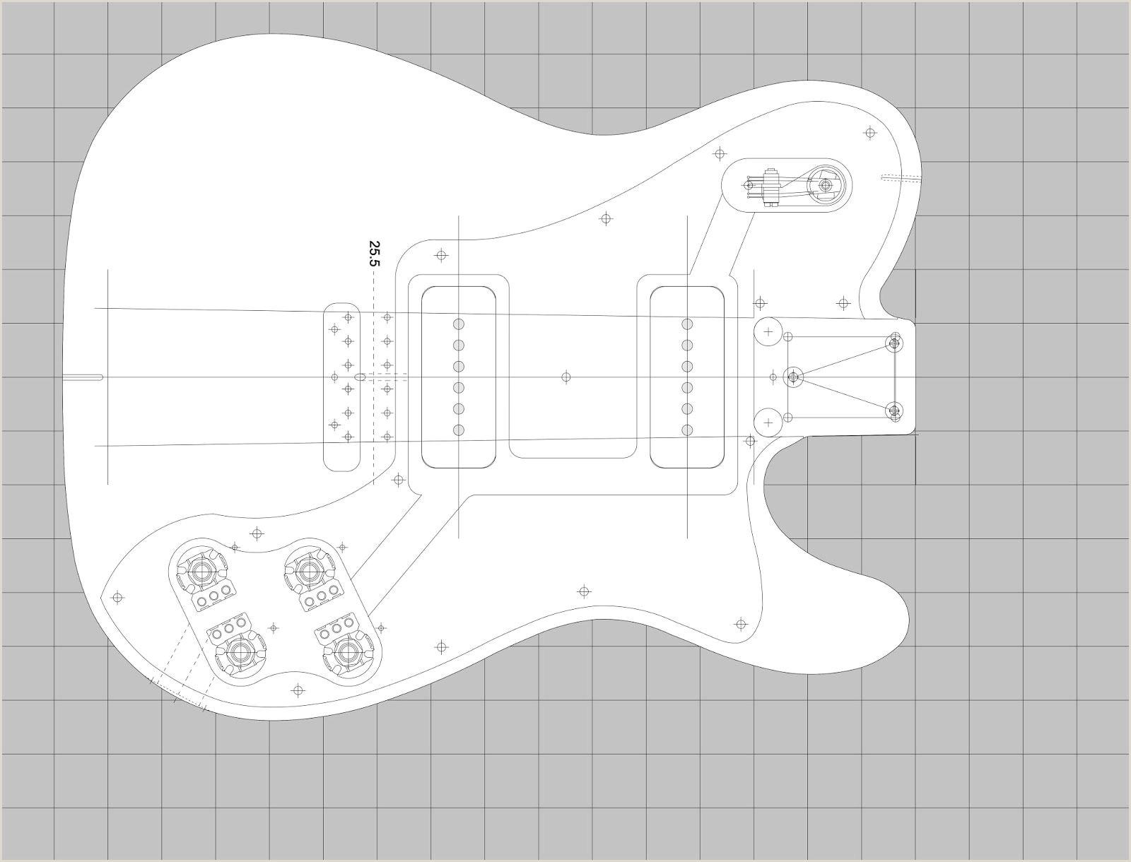 telecaster 72 Custom Deluxe template