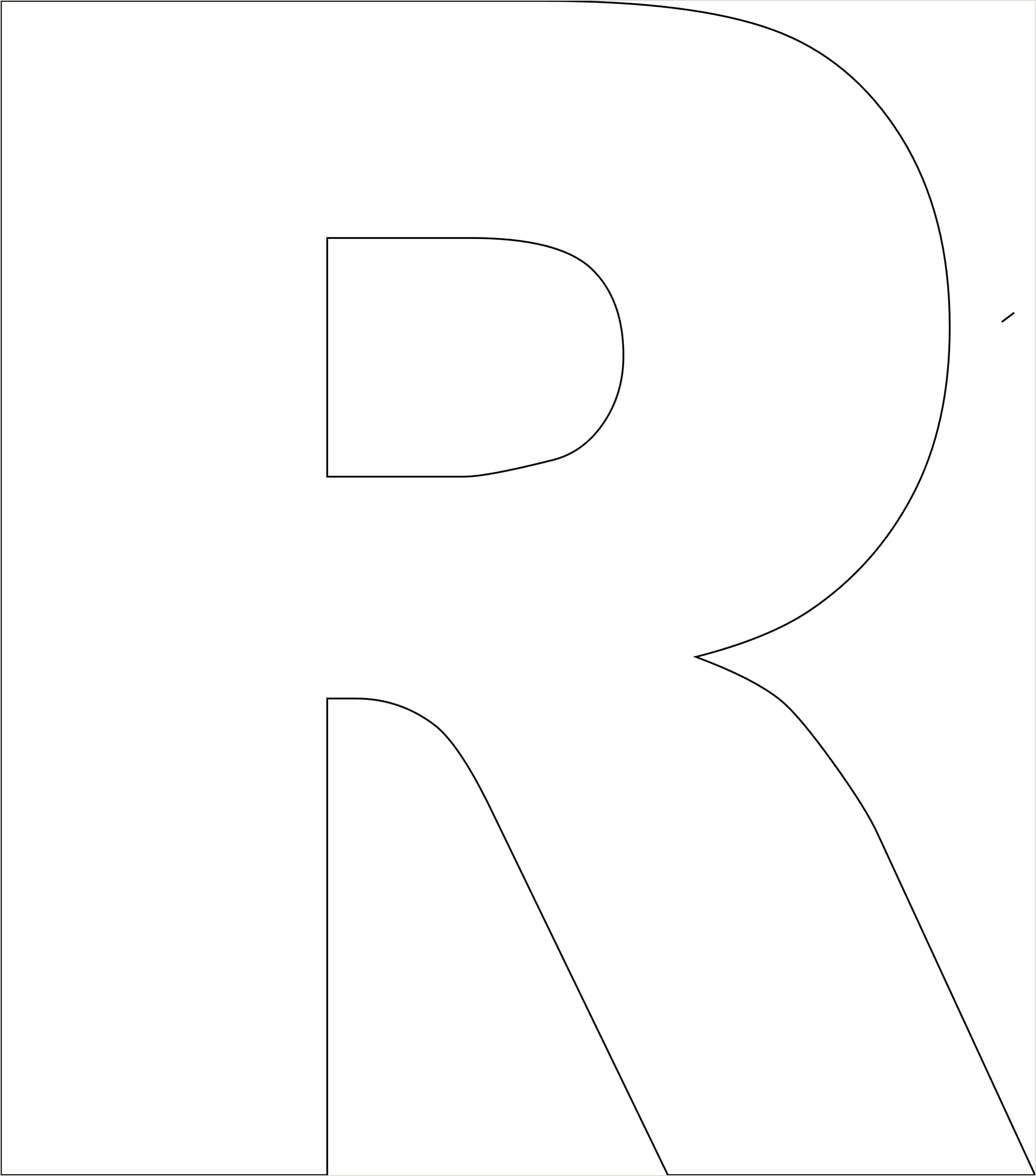 Printable Letter Stencil Free Printable Alphabet Template Upper Case