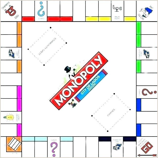 Printable Monopoly Board Pdf Monopoly Board Template