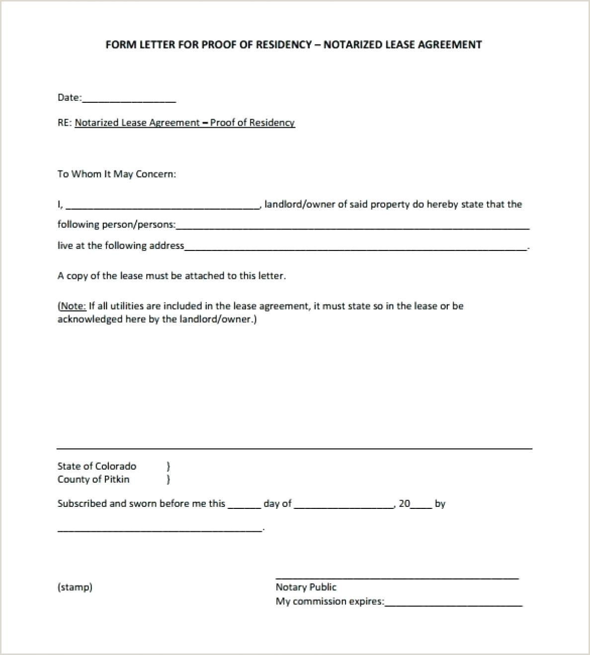 Printable Notarized Letter Of Residency Template Just Out Notarized Letter Residency Template Easily