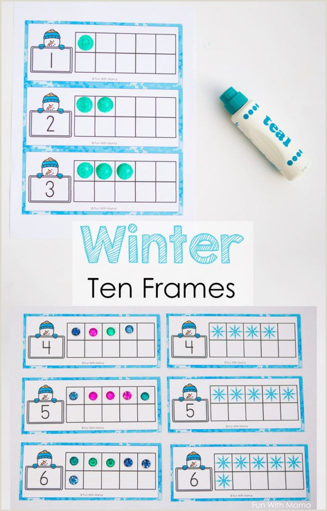 Printable Photo Frame Templates Snowman Winter Ten Frame Printable Winter Prek