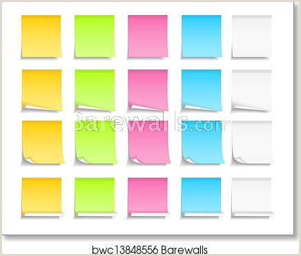 Colored Post It Notes art print poster