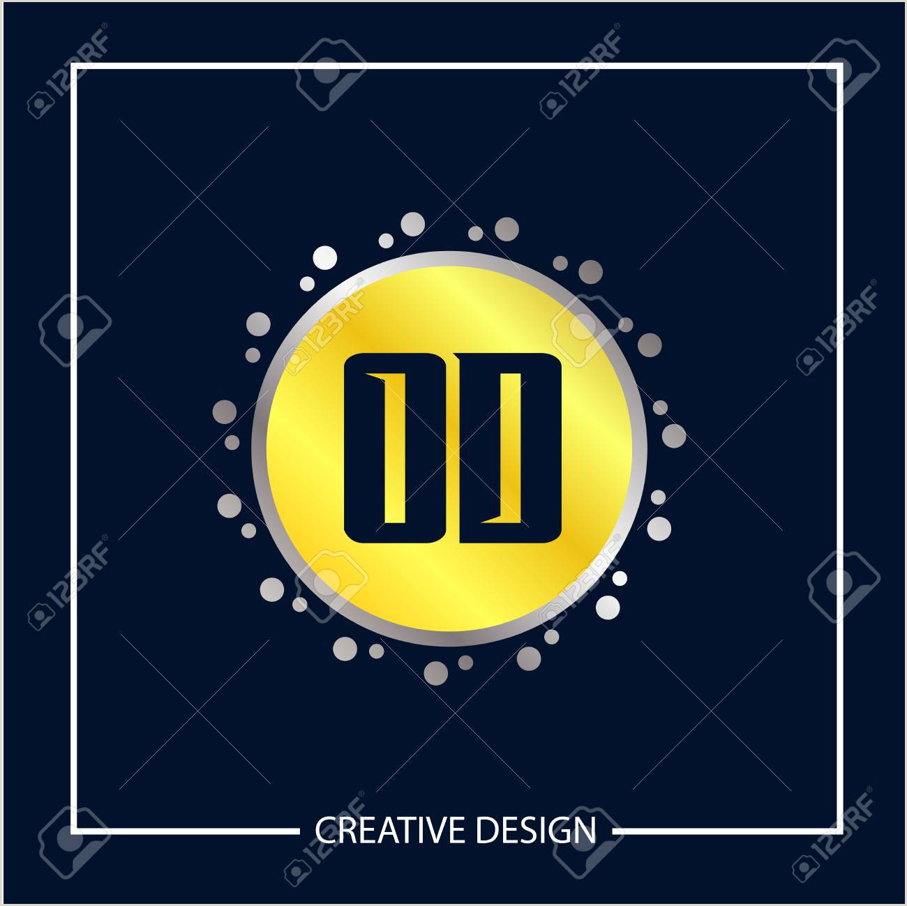 Initial Letter OD Logo Template Design