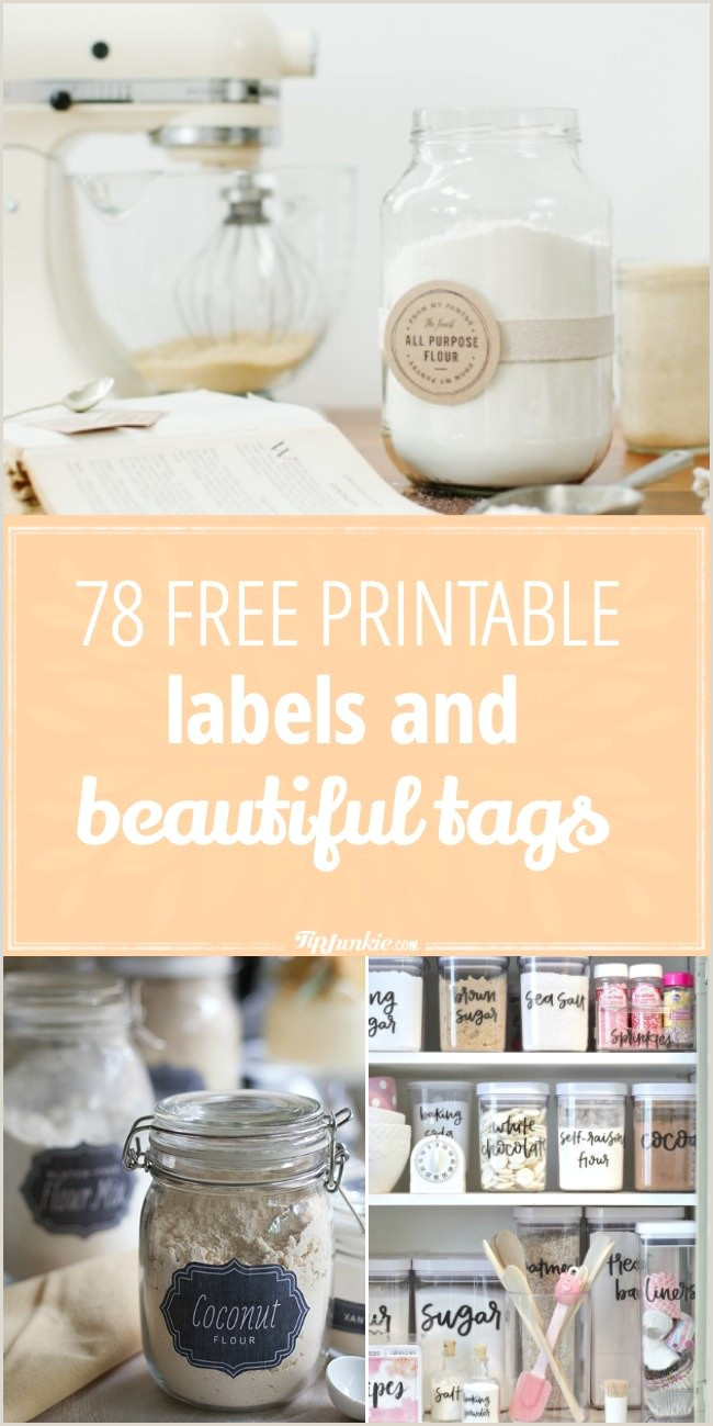 78 Free Printable Labels and Beautiful Tags – Tip Junkie