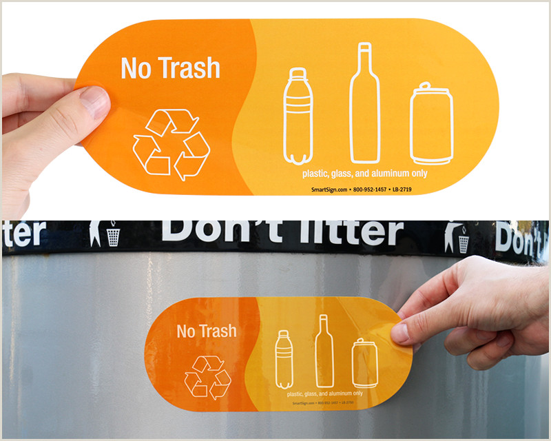 No Trash Signs & No Trash Labels