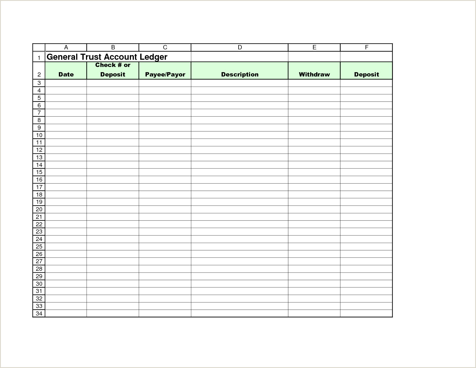 Trust Accounting Spreadsheet Excel Spreadsheet Templates How