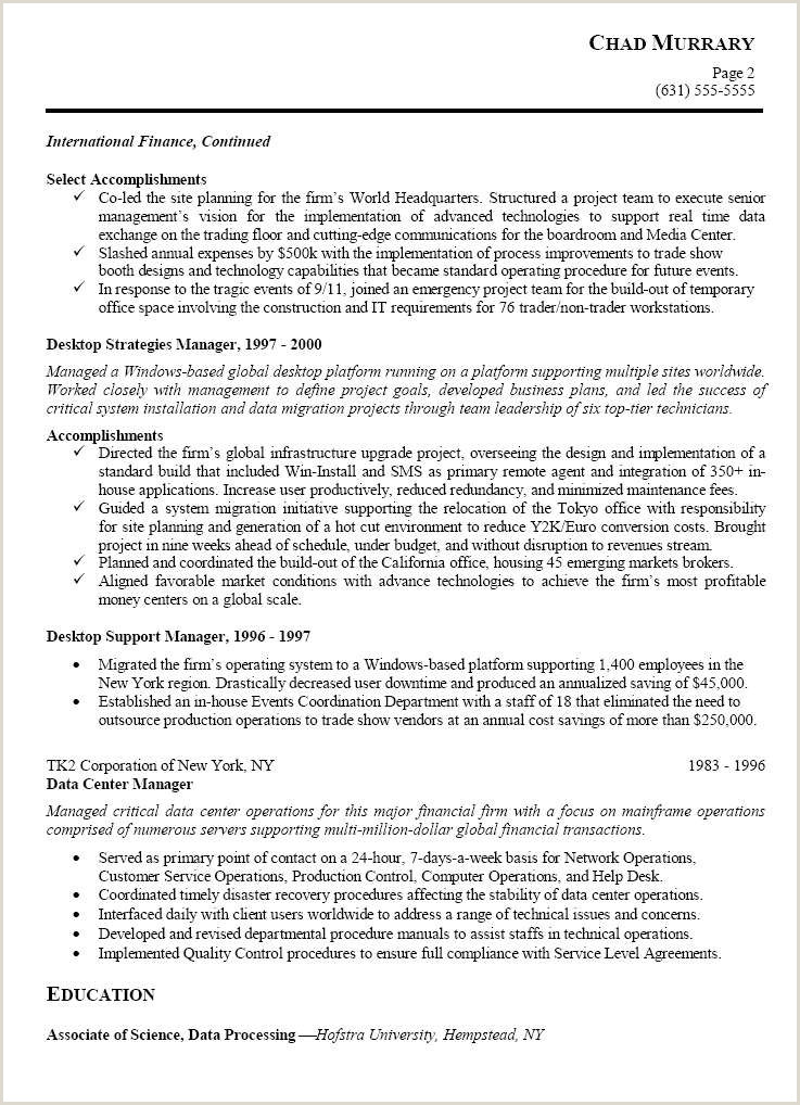 Production Leader Resume Project Management Resumes Professional Construction
