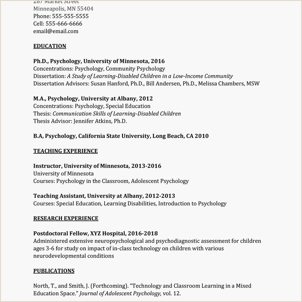 Professional Curriculum Vitae Samples Doc Academic Curriculum Vitae Cv Example and Writing Tips