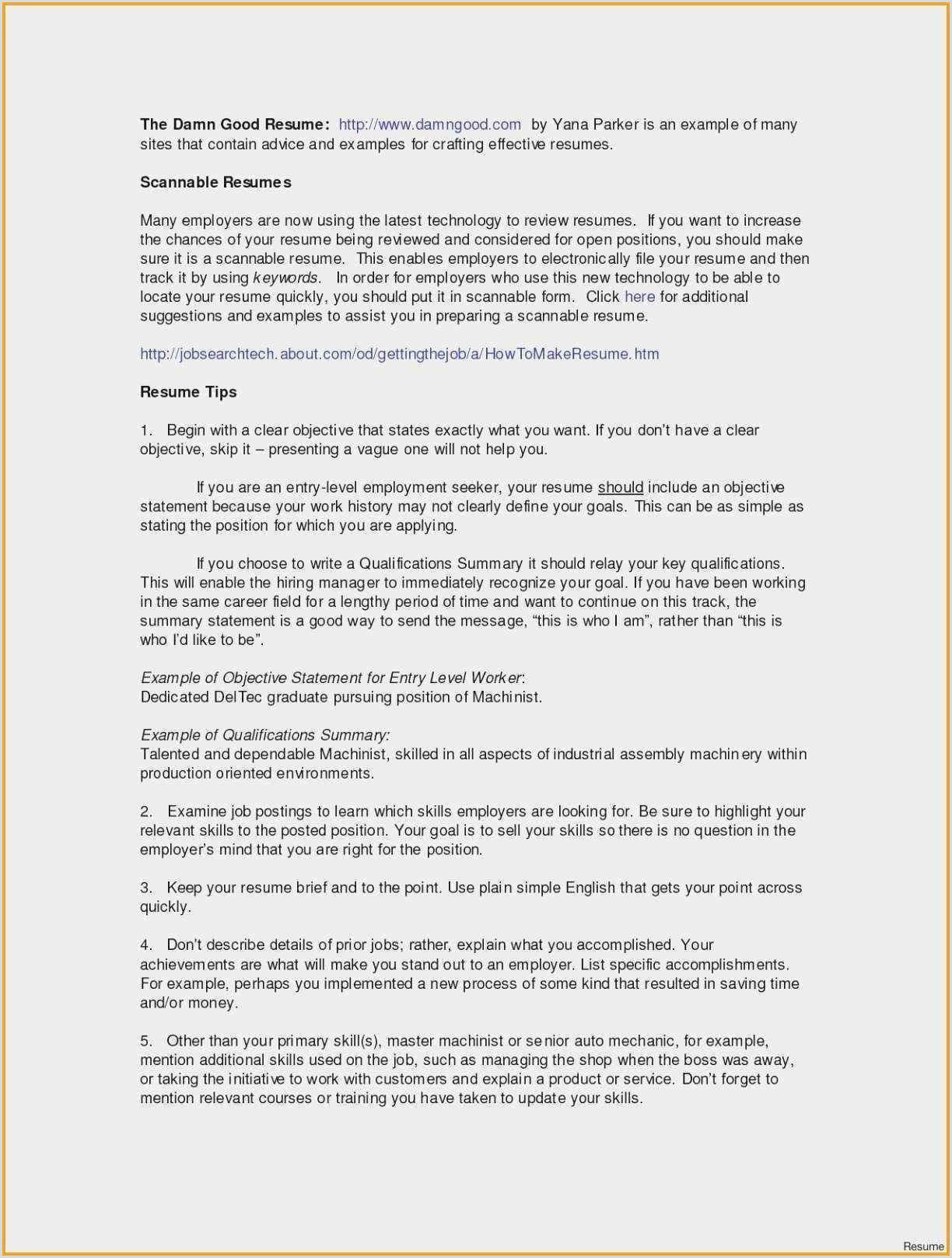 Resume Personal Statement Example Templates Professional