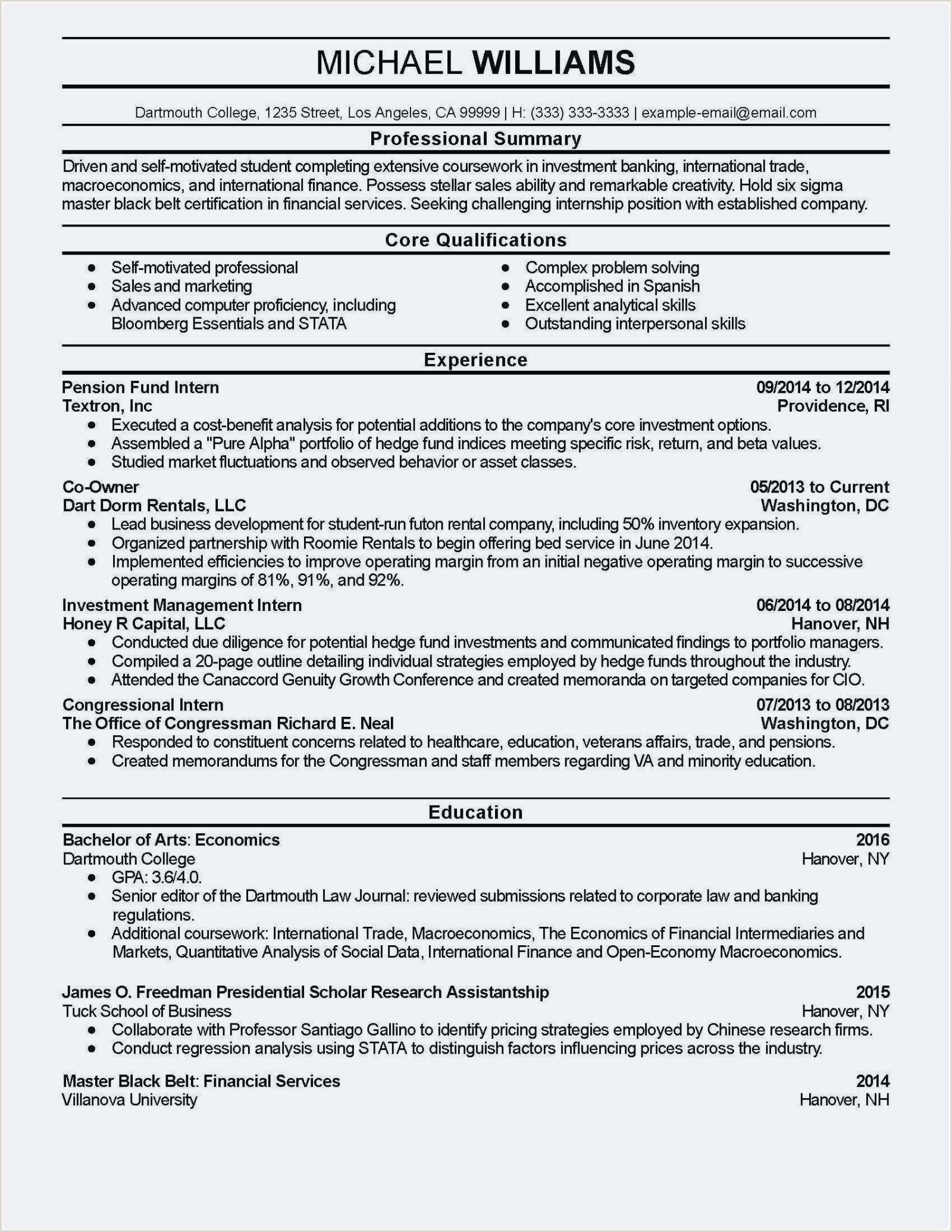 27 Cover Letter Investment Banking Cv Template Uk